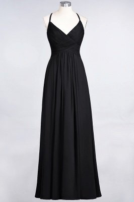 Chiffon A-Line Spaghetti-Straps V-Neck Sleeveless Long Bridesmaid Dress with Ruffles_28