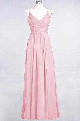 Chiffon A-Line Spaghetti-Straps V-Neck Sleeveless Long Bridesmaid Dress with Ruffles_4