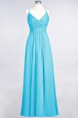 Chiffon A-Line Spaghetti-Straps V-Neck Sleeveless Long Bridesmaid Dress with Ruffles_23