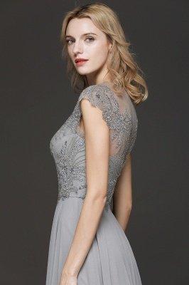 Crystal Appliques Sweetheart Side Slit Prom Dresses | Backless Capsleeves Evening Dresses_6