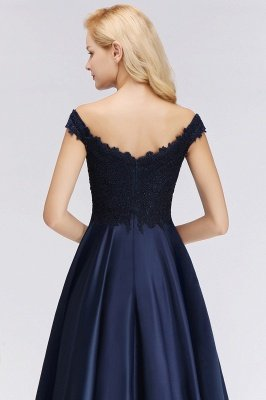 Elegant Off-the-Shoulder Ruffles Beads Sleeveless Bridesmaid Dresses_5