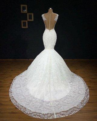 Wunderschöne Brautkleider Meerjungfrau Lang | Elegante Spitze Abendmode Weiße_3