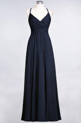 Chiffon A-Line Spaghetti-Straps V-Neck Sleeveless Long Bridesmaid Dress with Ruffles_27