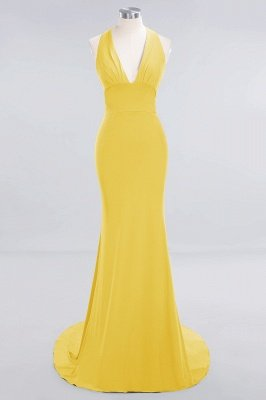Elegant Mermaid Halter Pool Bridesmaid Dress Online_15
