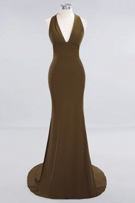 Elegant Mermaid Halter Pool Bridesmaid Dress Online_11