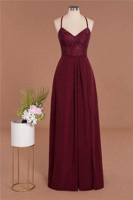 Lace Spaghetti Straps A-Line Bridesmaid Dresses Online