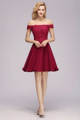 Maggie | Elegant Lace Off-the-Shoulder Short Bridesmaid Dress_1
