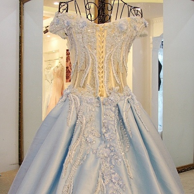 Exquisite Sweetheart Sleeveless Appliques Sweep Train Quinceanera Dresses_3