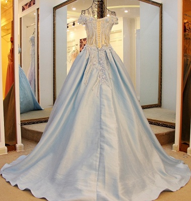 Exquisite Sweetheart Sleeveless Appliques Sweep Train Quinceanera Dresses_2