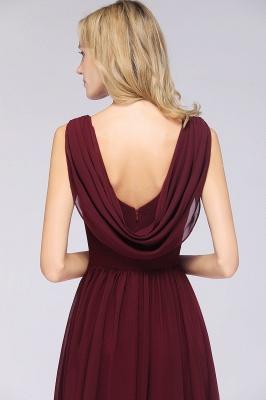 Chiffon A-Line Straps V-Neck Sleeveless Long Bridesmaid Dress with Ruffles_6