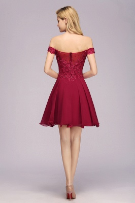 Maggie | Elegant Lace Off-the-Shoulder Short Bridesmaid Dress_2