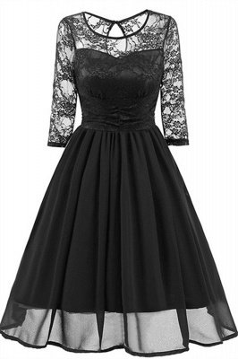 Elegant Womans Chiffon Lace Dress Brand Ladies Girl Prom Dresses_3