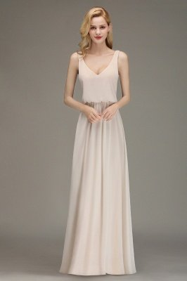 Margaret | Elegant Straps Sexy V-Neck Long Cheap Bridesmaid Dress