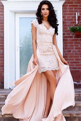 Stunning Cap Sleeve Lace Detachable Short Prom Dress Homecoming Dress BA7167_2