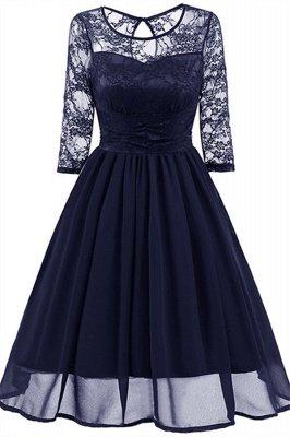 Elegant Womans Chiffon Lace Dress Brand Ladies Girl Prom Dresses_4