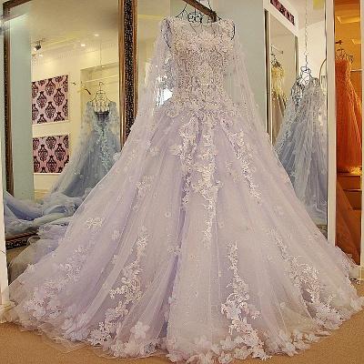 Lila Abendkleider Quinceañera Kleider | Wunderschöne Abendkleider Spitze und Tüll_1
