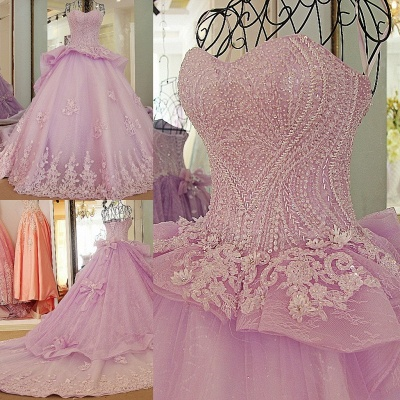 Strapless Sweetheart Beading Bows Quinceanera Dress