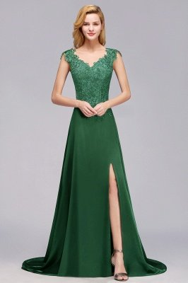 Marcia | Wholesale Lace Front-Slit Cheap Bridesmaid Dress