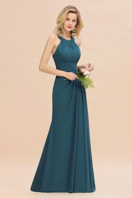 KENDALL  | Sexy A-Line Sleeveless Floor Length Ruffles Chiffon Bridesmaid Dresses Cheap Online_8