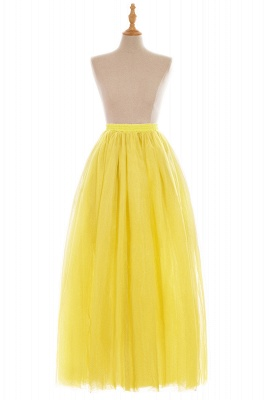 Glamorous A-line Floor-Length Skirt | Elastic Women's Skirts_10