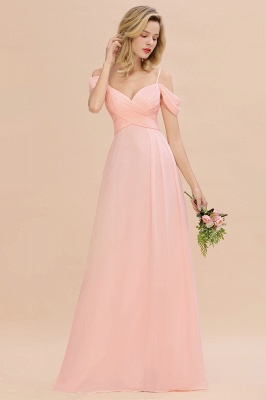 Spaghetti Straps Sweetheart Ruffles Bridesmaid Dress | Evening Dresses Online_5