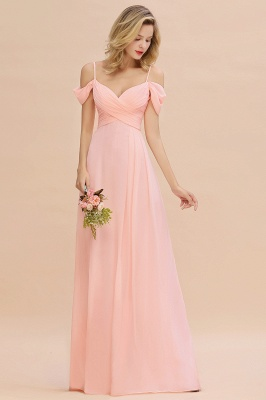 Spaghetti Straps Sweetheart Ruffles Bridesmaid Dress | Evening Dresses Online_4