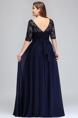 Plus Size Half Sleeves A-line Bridesmaid Dress Formal Dress for Wedding_7