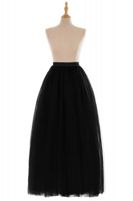 Glamorous A-line Floor-Length Skirt | Elastic Women's Skirts_15