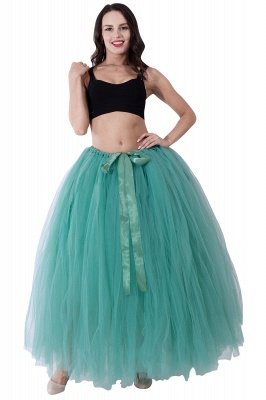 Fascinating Tulle Floor-Length Ball-Gown Skirts | Elastic Women's Skirts_16