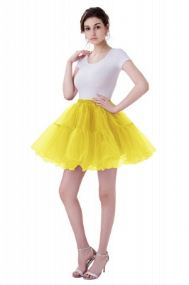 Brilliant Tulle Mini Short A-line Skirts | Elastic Women's Skirts_6