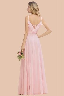 Cynthia | Stylish Straps V Neck Long Cheap Bridesmaid Dress Online_3