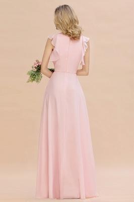Einfache Brautjungfer Kleider Chiffon | Schlichte Brautjungfer Kleider A-Linie_2