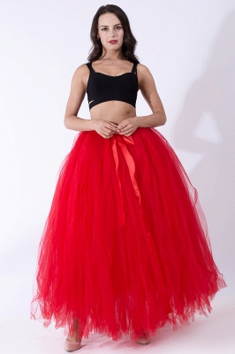 Fascinating Tulle Floor-Length Ball-Gown Skirts | Elastic Women's Skirts_5