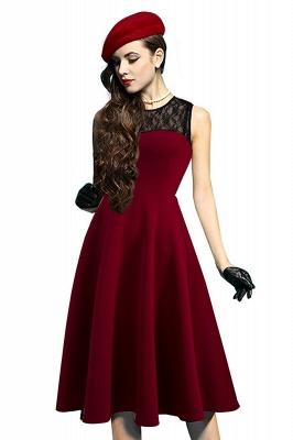 Elegant Jewel Lace Sleeveless Fashion Dresses   Sweetheart Women's Dress_3