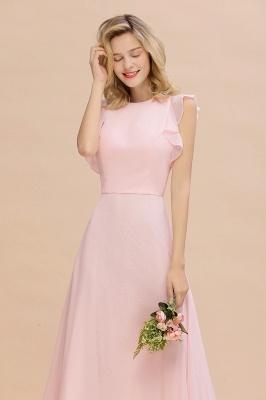 Einfache Brautjungfer Kleider Chiffon | Schlichte Brautjungfer Kleider A-Linie_8