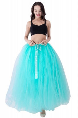 Fascinating Tulle Floor-Length Ball-Gown Skirts | Elastic Women's Skirts_17