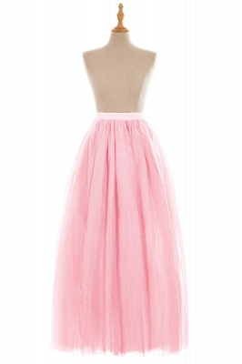 Glamorous A-line Floor-Length Skirt | Elastic Women's Skirts_3