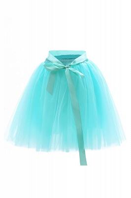 Amazing Tulle Short Mini Ball-Gown Skirts | Elastic Women's Skirts_19