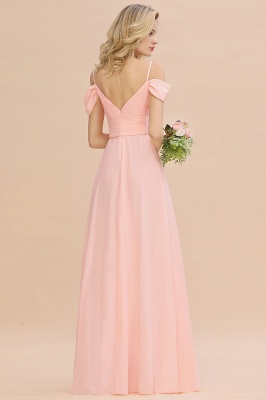Spaghetti Straps Sweetheart Ruffles Bridesmaid Dress | Evening Dresses Online_3