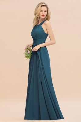 KENDALL  | Sexy A-Line Sleeveless Floor Length Ruffles Chiffon Bridesmaid Dresses Cheap Online_10