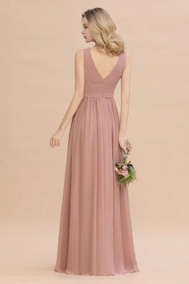 Elegant V-Neck Ruffles Bridesmaid Dress On Sale | Sexy Long Evening Dresses_3