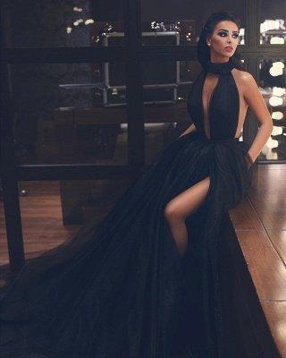 Vestido de noche atractivo del vestido de bola sin mangas de cuello alto_2