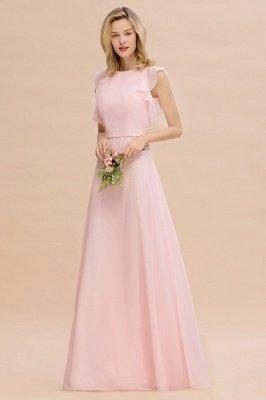 Einfache Brautjungfer Kleider Chiffon | Schlichte Brautjungfer Kleider A-Linie_4