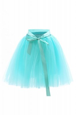 Amazing Tulle Short Mini Ball-Gown Skirts | Elastic Women's Skirts_19