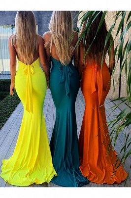 Elegant Mermaid Halter Pool Bridesmaid Dress Online_32