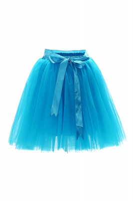 Amazing Tulle Short Mini Ball-Gown Skirts | Elastic Women's Skirts_10