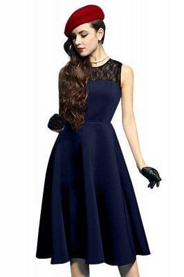 Elegant Jewel Lace Sleeveless Fashion Dresses   Sweetheart Women's Dress_5