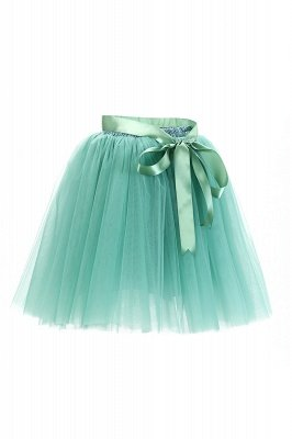 Amazing Tulle Short Mini Ball-Gown Skirts | Elastic Women's Skirts_15