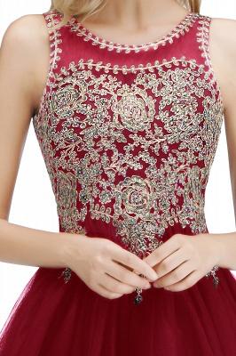 Милые пышные платья для выпускного вечера с кружевными аппликациями | Черное платье-подросток для коктейлей с открытой спиной и бисером_30