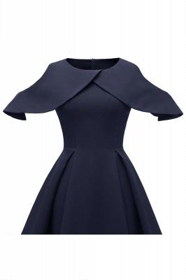 Elegantes U-Ausschnitt Halbarm 50er Jahre Kleid | Vintage Rockabilly Kleid Günstig_11